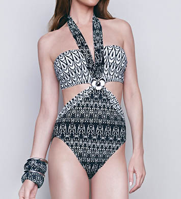 Gottex African Rhythm Cut Out One Piece Swimsuit