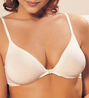 Grenier Cotton Front-Closure Molded Underwire Bra