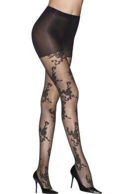 Hanes Scrolled Floral Control Top Pantyhose