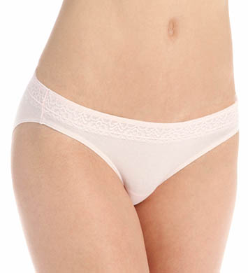 Hanes Cotton Stretch Waistband Bikini with Lace - 3 Pack