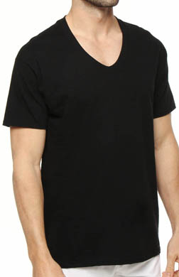 Hanes Black V-Neck T-Shirts - 3 Pack