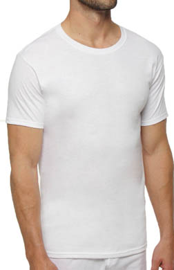 Hanes Slim Fit White Crewneck T-Shirts - 3 Pack