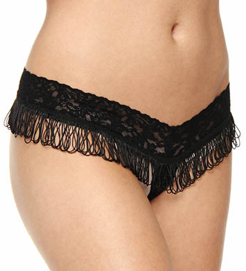 Hanky Panky After Midnight Fringe Benefits Crotchless Thong