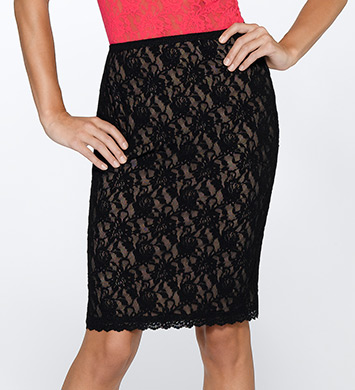 Hanky Panky Signature Lace 23 Inch Lined Pencil Skirt