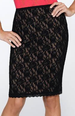 Hanky Panky Signature Lace 23 Lined Pencil Skirt