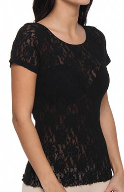 Hanky Panky Signature Lace Unlined Short Sleeve Top