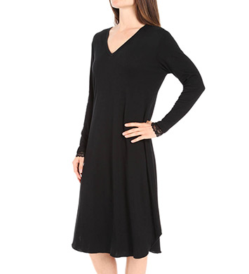Hanky Panky Supima Cotton Interlock Long Sleeve Gown