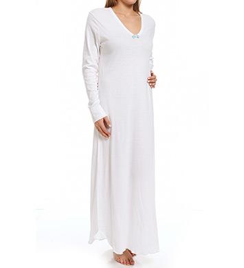 Hanky Panky Supima Cotton Interlock 54 Long Sleeve Gown