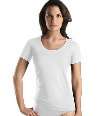 Hanro Cotton Superior Short Sleeve Top