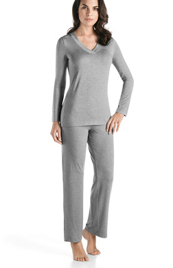 Hanro Champagne Long Sleeve Pajama Set