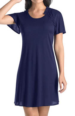Hanro Violet Short Sleeve Gown