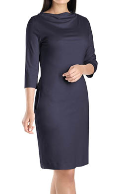 Hanro Laura Open High Neck 3/4 Sleeve Gown
