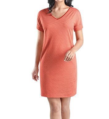 Hanro Raquel Stripe Short Sleeve Gown