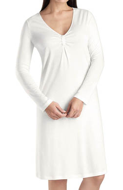 Hanro Ellen V-neck Long Sleeve Gown