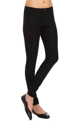 Hue Studded Denim Leggings