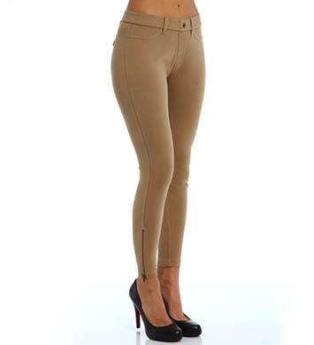 Hue Khaki Skimmer Zipper Legging