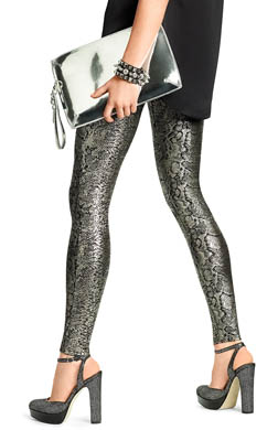 Hue Foil Python Denim Leggings