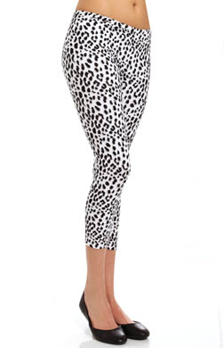 Hue Leopard Cotton Capri Legging