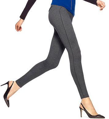 Hue Ponte Herringbone w/ Leatherette Piping Leggings