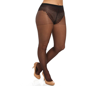 Hue French Lace Control Top Pantyhose
