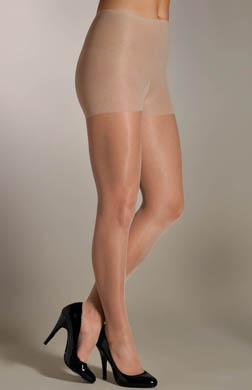Hue Sleek No Waistband Control Top Pantyhose