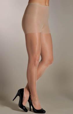 Hue Sleek No Waistband Control Top Pantyhose