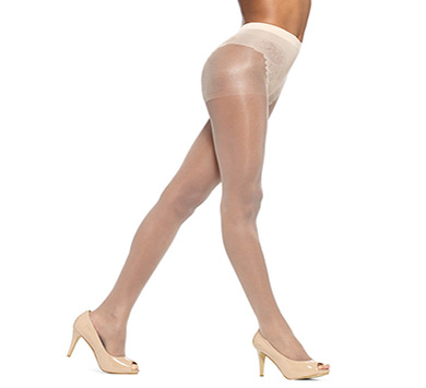 Hue Toeless Control Top Pantyhose