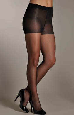 Hue Backseam Control Top Pantyhose