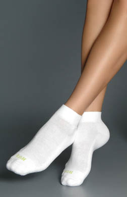 Hue Quarter Top with Cushion Socks - 6 Pair Pack