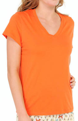 Hue Signature Short Sleeve V-Neck Sleep Tee
