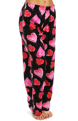 Hue Sign My Heart Long PJ Pant With Silver Stitching