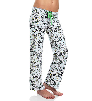 Hue Leopard Flower Slim Fit PJ Pant