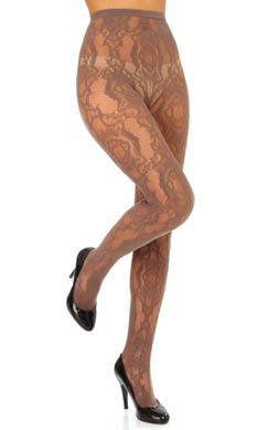 Hue Brocade Net Tights