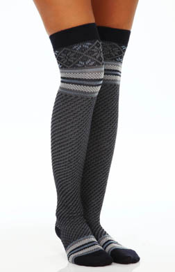 Hue Fair Isle Cuff Over The Knee Sock