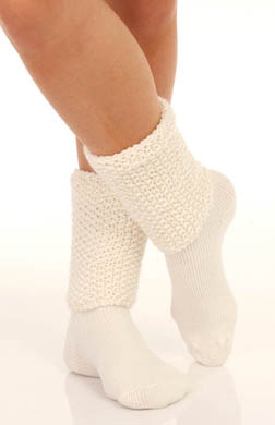 Hue Textured Turncuff Bootie Sock