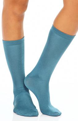 Hue Luster Flat Knit Sock