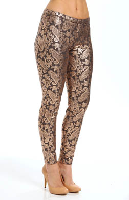 Hue Pearlized Brocade Jeans Legging