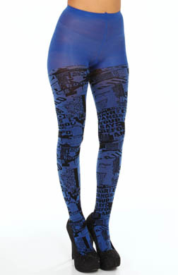 Hue Graffiti Tights with Control Top