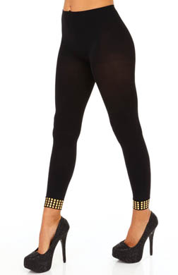 Hue Studded Ankle Footless Tights