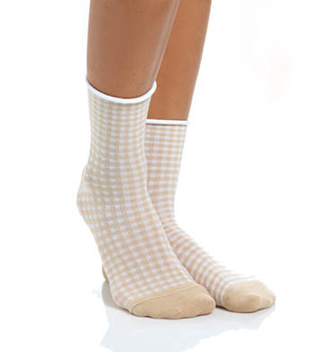 Hue Huetopia Gingham Shortie Sock