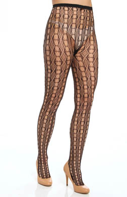 Hue Linear Diamonds Net Tights