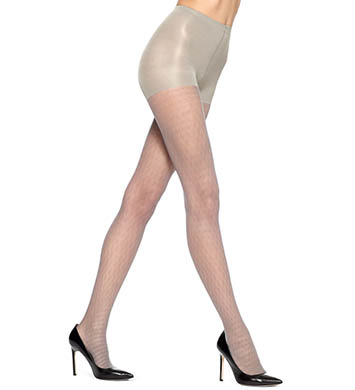 Hue Pointelle Dot Sheer Tights with Control