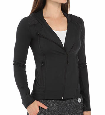 Hurley Beach Active Dri-Fit Hooded Moto Jacket
