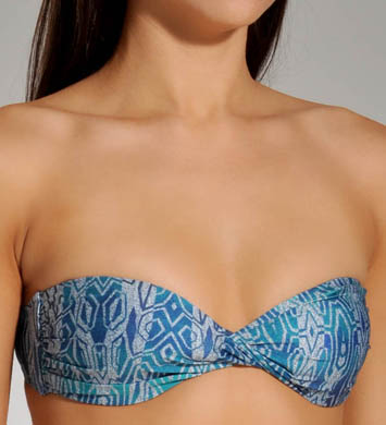 Hurley Tribe Quest Softcup Twist Bandeau Swim Top