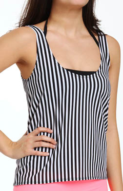 Hurley Surfside Stripe Two-fer Swim Top