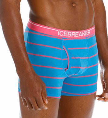 Icebreaker Anatomica Striped Boxer Brief with Fly