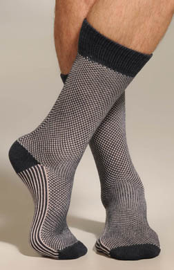 JM Dickens Two Color Birdseye Mid Calf Sock