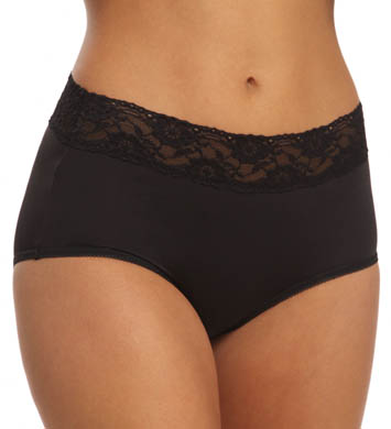 Jones New York Microfiber Wide Lace Trim Full Brief
