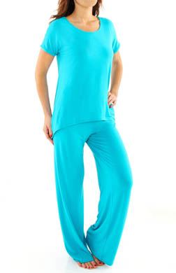 Josie by Natori Sleepwear Femme Short Sleeve Pajama Set
