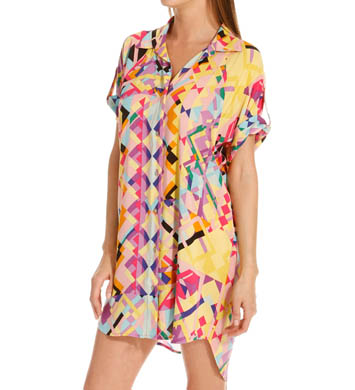 Josie by Natori Sleepwear Rive Gauche Chic Printed Rayon Challis Sleepshirt